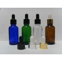 Best FDA Free Lotion Glass Bottles With Silver Collar And White Bulb / Liquid Dropper Bottle wholesale