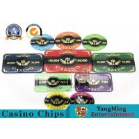 Best Hot 760 Acrylic Chips Bargaining Poker Chip Set Custom With Aluminum Case With Factory Price wholesale