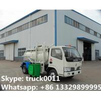 Quality 2017s hot sale Dongfeng 3,000L kitchen garbage truck, factory sale best price dongfeng swill garbage truck for sale wholesale