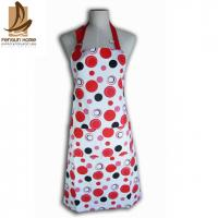 Best Cotton Canvas Red And White Polka Dot Apron Custom Cooking Aprons wholesale
