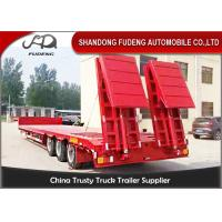 Quality Gooseneck Lowboy Trailer Semi 3 Axle Carry Heavy Duty Equipment TrailerstLow Loader wholesale