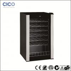 Best CICO-28Bottles  Compressor Wine Cooler With Black Cabinet and Black Interior wholesale