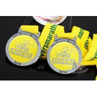 Best Two Rivers Marathon Custom Sports Medals Raised Metal And Filling Color In Recessed Metal wholesale