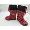 Oxford Waterproof Unisex Print Pvc Rain Boots for sale