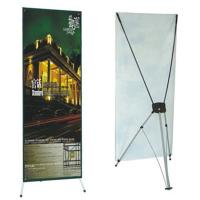 China Advertising  graphic banner stand Trade Show Display X Banner Stand With PVC Banner on sale