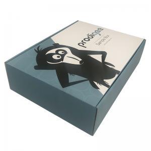 Best Customized Flat pack folding corrugated cardboard shipping box with custom printing wholesale