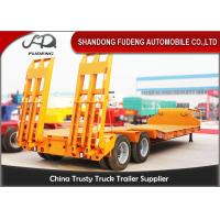 Quality Double Axles Low Loader Trailer For Bulk Cargo Transportation High Strength Steel wholesale