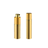 China Cylinder Golden 8ML 30ML Cosmetic Airless Pump Bottle For Cream Lotion for sale