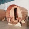 Quality 1800*2400MM 7 x 7 eletric Wood Fired Barrel Sauna Knotless Red cedar wholesale