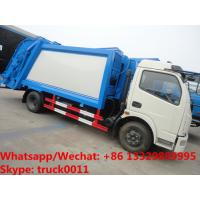 Best factory sale best price Dongfeng 4*2 LHD 6-7m3 compacted garbage truck, refuse garbage truck for The Kyrgyz Republic wholesale