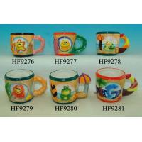 Best Dolphin Custom Ceramic Mugs With Beach Umbrella Handle 8.5 X 12 X 9 Cm wholesale