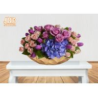 Best Gold Leafed Fiberglass Flower Serving Bowl Decorative Table Vases Boat Shape wholesale