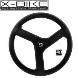 China High speed 100% carbon 3 spoke bicycle wheel 700c,road tubular 3 spoke bicycle wheels on sale