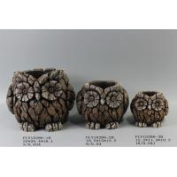 Best Small Modern Owl Cement Plant Pots Ornament High Strength Durable wholesale
