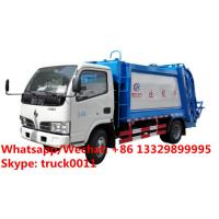 Best HOT SALE!4tons rear loader garbage truck for sale, Factory sale good price Dongfeng 4*2 LHD 5m3 garbage compactor truck wholesale