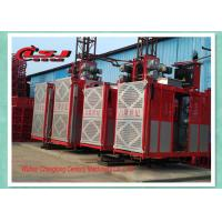 Best Competitive prices 34m speed twin cage 2000kg capacity rack and pinion elevator wholesale