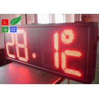 Best Time / Temperature LED Programmable Scrolling Message SignsP10 Auto Dimming By Sensor wholesale