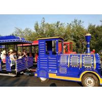 Best Outdoor Diesel Trackless Train Amusement Ride Vacuum Tyre For Large Scenic Area wholesale