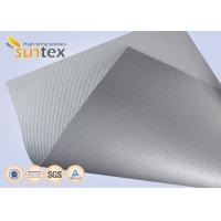 Best Silver Grey Fiberglass Fire Resistant Welding Blanket Silicon Rubber Colored Fiberglass Cloth wholesale