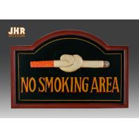 Best No Smoking Wooden Wall Signs Hand Painting wholesale