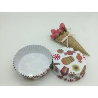 Best Round Shape Paper Baking Cups PET Coated Film Candy / Flower Pattern Cupcake Liners wholesale