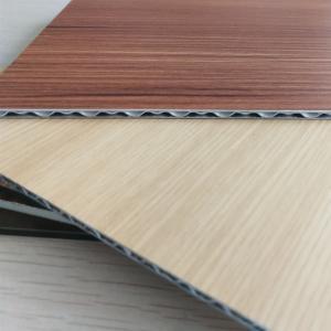 Best Wood Grain Aluminum Core Panel Light Weight Fireproof Length 2400mm Customzied wholesale