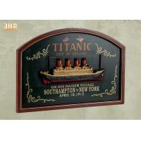 Best Memorial Titanic Wall Decor Wooden Wall Plaques Resin Cruise Ship Antique Wood Pub Sign wholesale
