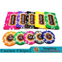 Best 760 Pcs Texas Holdem Style Clay Poker Chips With Real Aluminum Case wholesale