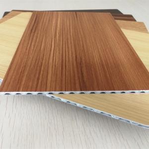 Best Light Weight Fireproof Wood Grain Aluminium Core Panel , Aluminium Advertising Boards wholesale