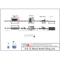 Best 0.5L-5L Anti Corrosive Diving Bleach Bottle Filling Line With Capping Machine Labeling Machine For Bleach Bottle Packing wholesale