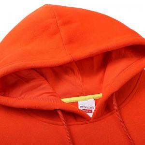 Best Custom Hoodie Pullover Sweatshirt Mens Blank Orange Plain Hoodies High Quality Long Sleeves Hoodies wholesale