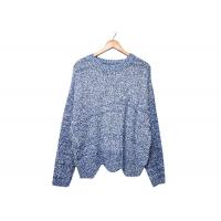 Best Round Neck Womens Knit Sweater Pleuche Irregular Knitted OEM / ODM Service wholesale