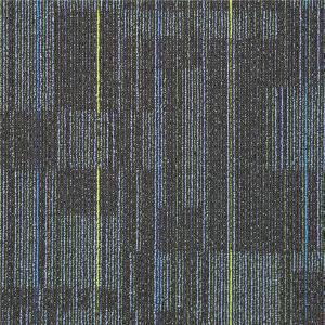 Best Unique Texture Design PP Carpet Tile Striped Carpet Tiles For Library wholesale