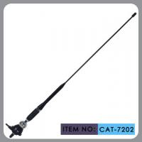 Quality Truck Rubber Car Antenna With Black Glass Fibre Mast Chrome Zinc Alloy 75Ω wholesale