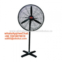 China 26 inch metal industrial pedestal standing fan with cross base/26 electric stand  oscillating fan with 3 speeds setting for sale
