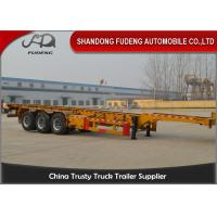 Best 40 foot straight frame container chassis tri axle container carrier truck semi trailer wholesale