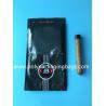 Best Custom classic black cigar bag general zipper plastic moisturizing bag with 4-6 cigars wholesale