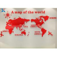 Best Office Creative Acrylic Shapes Craft / 3D Acrylic Stereo World Map Wall Sticker wholesale