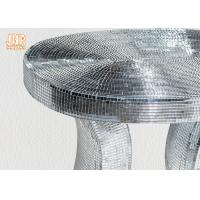 Best Oval Top Silver Mirror Mosaic Glass Table / Pedestal wholesale