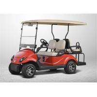 Quality Red Color 48V 4 Seater Electric Golf Cart , Road Legal Golf Buggy SGS & TUV Certificate wholesale