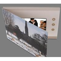 Leather Hard Cover LCD Video Brochure With Video Screen / SD Card A5/A4 Or for sale