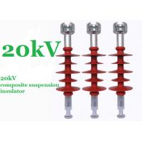 Best Red 20kV Polymer Suspension Insulators Minimum Creepage Distance 750mm wholesale