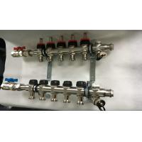 Buy cheap Double Hand Wheels Underfloor Heating Manifold With Stainless Steel 201 from wholesalers