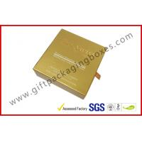 Buy cheap Customized Embossed Logo Golden Paper Rigid Gift Packaging Boxes for USB from wholesalers
