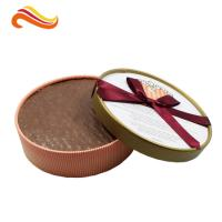 Best Round Baileys Chocolate Gift Packaging Boxes With Offset Printing / Ribbon for Wedding Dress wholesale