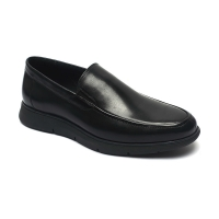 China Black Anti Odor Mens  Breathable Genuine Leather Shoes for sale