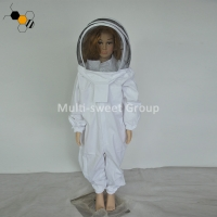 China White Hooded Ventilated 150cm Children Bee Protection Suit on sale