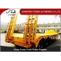 Quality Lowbed Trailers Lowboy Semi Trailer With Ramp Tri-Axles 60 Tons for sale wholesale