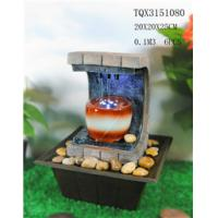 Best Polyresin Water Fountain Hand Painting With Led Lights For Home Decoration wholesale