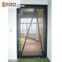 Best Tempered Glass Pivot Front Door , Aluminium Contemporary Entrance Doors wholesale